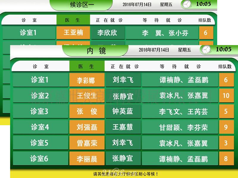 北京天良门诊分诊导引排队叫号系统