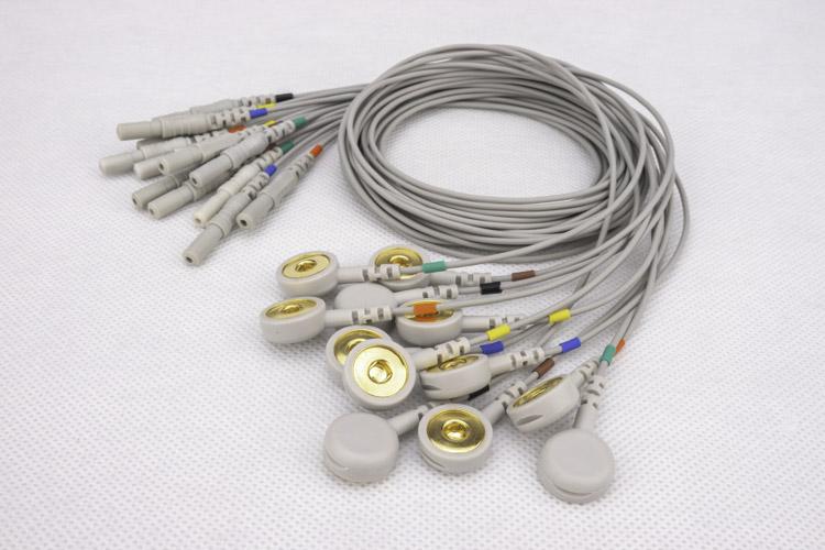 心电导联线纽扣电极心电电极